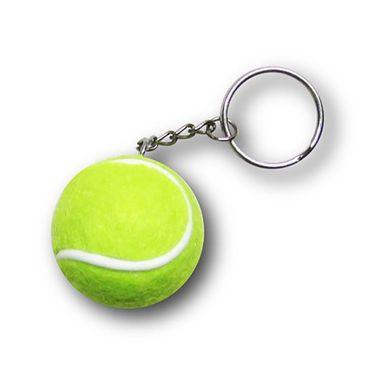 Racquet Inc Tennis Ball Keychain - Green/White