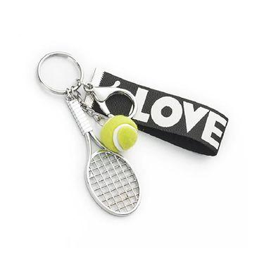 Racquet Inc Tennis Racquet Love Keychain - Green/Black