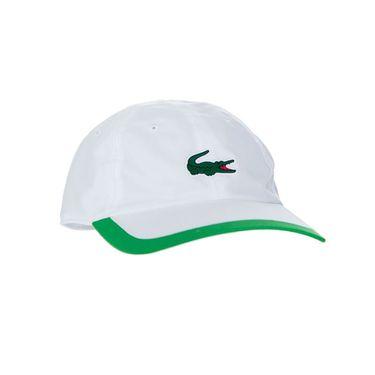 Lacoste SPORT Contrast Border Lightweight Hat - White/Malachite