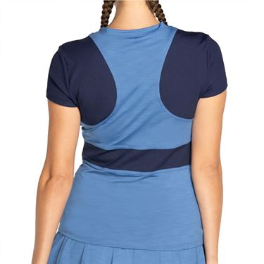 Eleven Rib Focus Tee Shirt Womens Denim RM1066 437