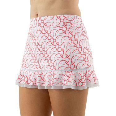 Inphorm Vibrant Mod Bridget Bottom Ruffle Skirt Womens Red Print/White S18024 0222û