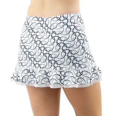 Inphorm Retro Classic Bridget Bottom Ruffle Skirt Womens Midnight Print/White S18024 0225û