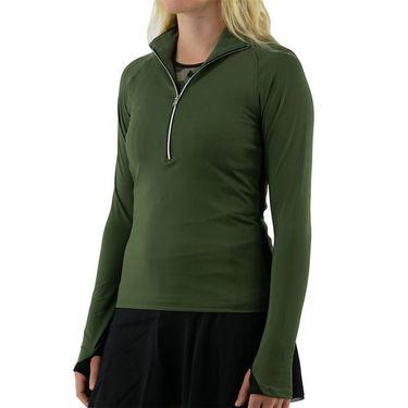 Inphorm Militaire Zone Half Zip Jacket Womens Militaire/Black S21010 0235