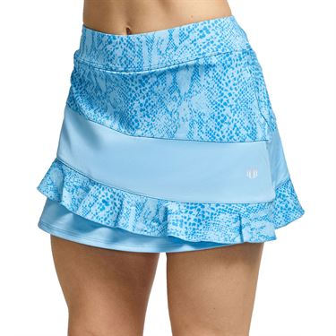 Eleven In The Curves Sun Bliss 13 inch Skirt Womens Cloud Blue SK135 413