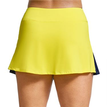 Eleven Retro Color Block Border Flutter Skirt Womens Admiral Navy/Neon Sun SK190 426