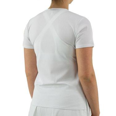 Eleven Essentials Love To Love Rib Tee Womens Bright White SS210 100