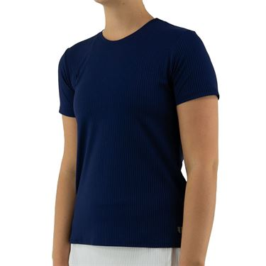 Eleven Essentials Love To Love Rib Tee Womens Admiral Navy SS210 415