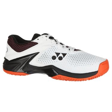 Yonex Power Cushion Eclipsion 2 Clay Mens Tennis Shoe - White/Orange