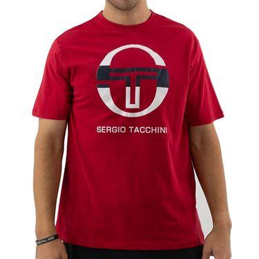 Sergio Tacchini Iberis Tee Shirt Mens Apple Red/White/Navy STMF2038714 609