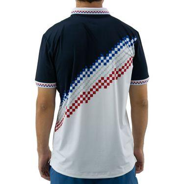 Sergio Tacchini Check Polo Shirt Mens Navy/White STMF2038778 227