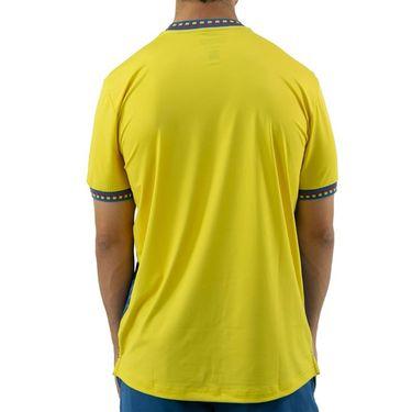 Sergio Tacchini Check Tee Shirt Mens Sun Yellow/Lyons Blue STMF2038779 413