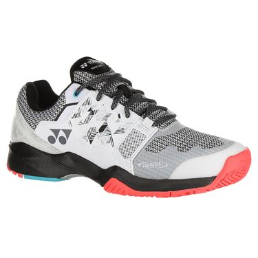 Yonex Power Cushion Sonicage Wide Mens Tennis Shoe - White/Black