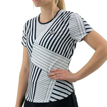 Sergio Tacchini Melbourne Tee Shirt Womens Night Sky/Multi STW2138936 215