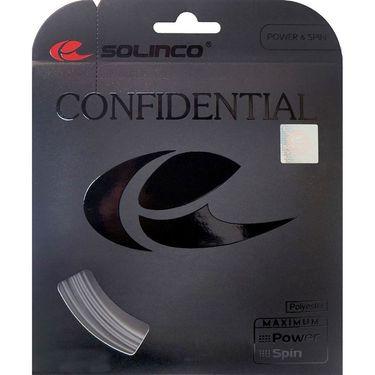 Solinco Confidential 16G Tennis String - Silver