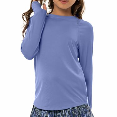 Lucky in Love On The Prowl Girls Long Sleeve Athletic Crew Shirt Ice T162 417