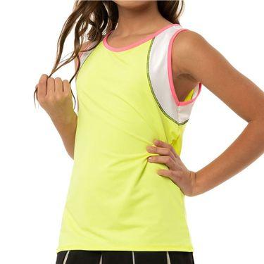 Lucky in Love Rockin Rococo Girls Rococo Stripe Tank Neon Yellow T183 C17710