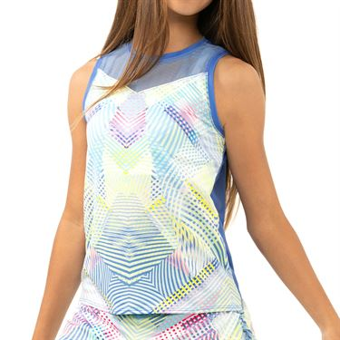 Lucky in Love Count Me In Girls Flow Motion Tie Tank Blue Marine T228 H90430
