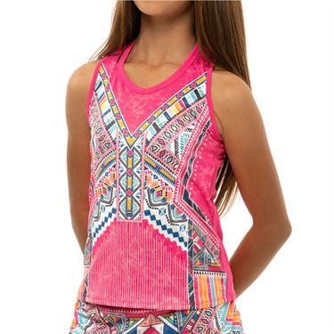 Lucky in Love Girls Pretty In Ink Tank Shocking Pink T230 H93645
