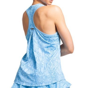 Eleven In The Curves Snake Race Day Tank Womens Cloud Blue 3051 413