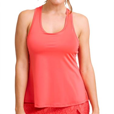 Eleven In The Curves Snake Race Day Tank Womens Sunny Coral Snake 3051 992