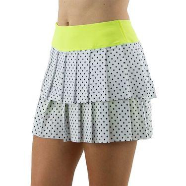 Jofit Limonata Layered Pleat Skirt Womens White Polka Dot TB0011 WPD