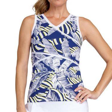 Tail Zebra Safari Madeline V Neck Full Coverage Tank Womens Palm Passion TD2669 M641