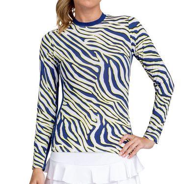 Tail Zebra Safari Petrina Long Sleeve Top Womens Lemon Zebra TD2854 M521