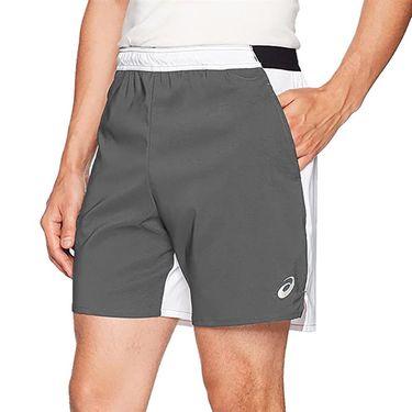 Asics Centerline Short Mens Steel Grey/White TE3359 9401