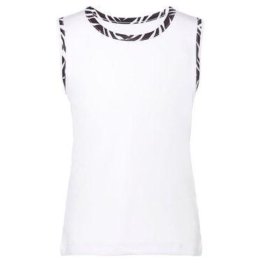 Fila Core Girls Performance Fullback Tank White/Zebra Print TG018396 109