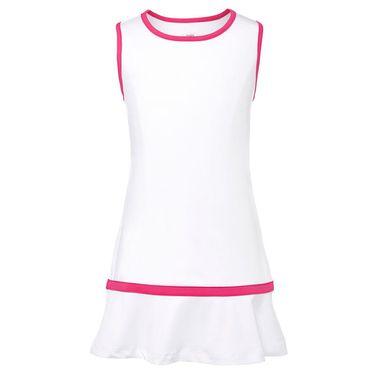 Fila Core Girls Performance Dress White/Bright Pink TG018413 108