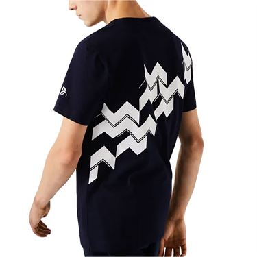 Lacoste Tee Mens Navy/White TH2246 2HC