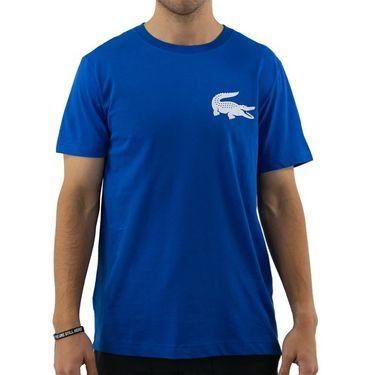 Lacoste SPORT x Novak Djokovic Breathable Jersey T-Shirt - Marina/White