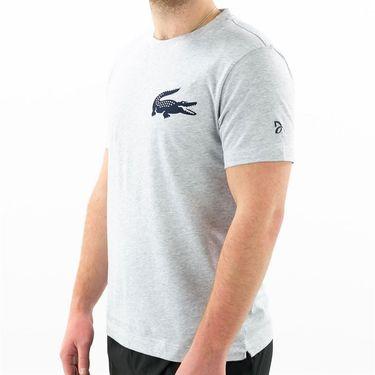 Lacoste SPORT x Novak Djokovic Breathable Jersey T-Shirt - Silver/Navy