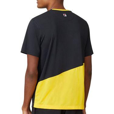 Fila Break Point Crew Shirt Mens Black/Gold Fusion/White TM015353 001
