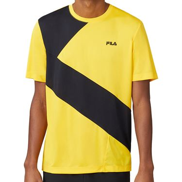Fila Break Point Slash Crew Shirt Mens Gold Fusion/Black TM015354 755