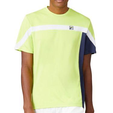 Fila PLR Crew Shirt Mens Acid Lime/Blueprint/White TM016279 368