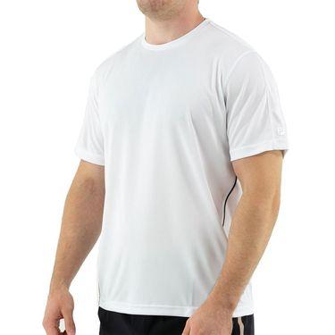 Fila Essentials Piped Crew Shirt Mens White/Navy TM016426 102