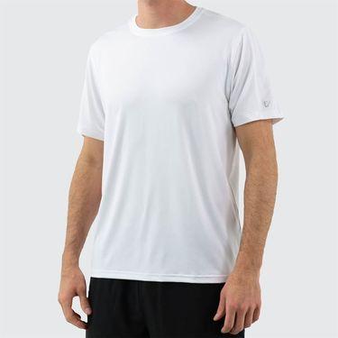 Fila Legend Heathered Mesh Crew Shirt Mens White Heather TM16427 100