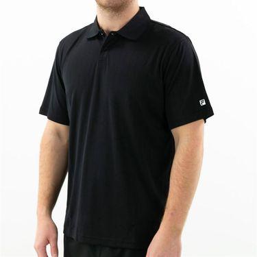 Fila Essentials Drop Needle Polo Mens Black TM016472 001