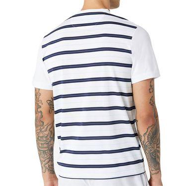 Fila Legends Yarn Dye Crew Shirt Mens White/Navy/Beach Glass TM036839 100