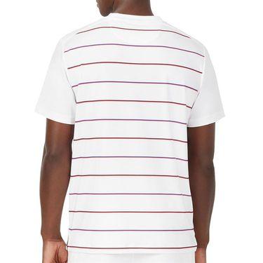 Fila Heritage Tennis Stripe Crew Shirt Mens White TM036841 100