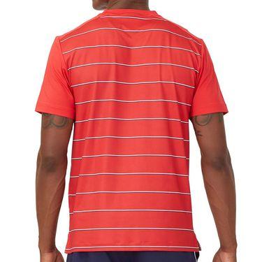 Fila Heritage Tennis Stripe Crew Shirt Mens Chinese Red TM036841 622
