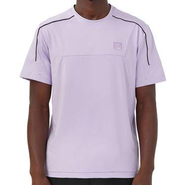 Fila Adrenaline Performance Tennis Crew Shirt Mens Lavender/Black TM036851 520