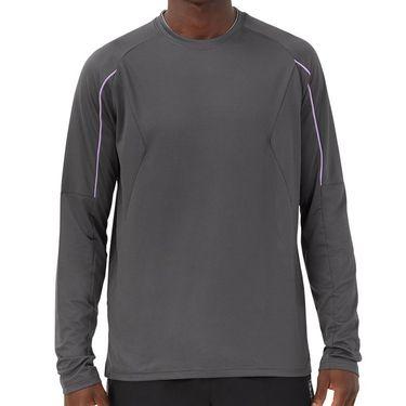 Fila Adrenaline Performance Long Sleeve Shirt Mens Dark Grey/Black/Lavender TM036853 082