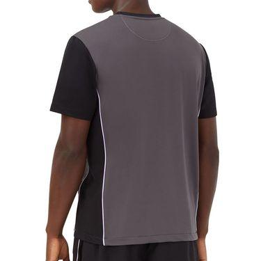 Fila Adrenaline Performance Vented Crew Shirt Mens Dark Grey/Black/Lavender TM036855 082