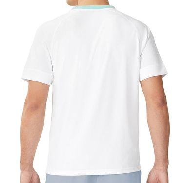 Fila Cross Court Crew Shirt Mens White/Blue Fog/Blue Tint TM11826 100