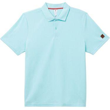 Fila Cross Court Texture Polo Shirt Mens Blue Tint/Holly Berry TM118278 440