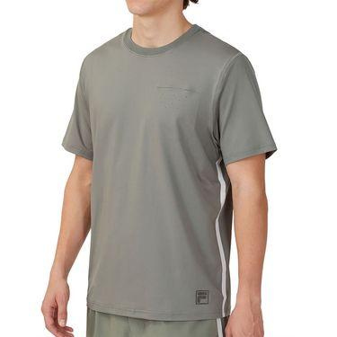 Fila Tie Breaker Vented Crew Shirt Mens Agave Green/Glacier Gray TM118297 359