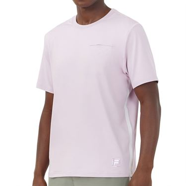 Fila Tie Breaker Vented Crew Shirt Mens Lavender Frost/Glacier Gray TM118297 520