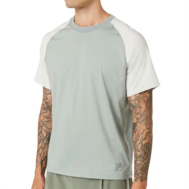 Fila Tie Breaker Colorblocked Crew Shirt Mens Slate Gray/Glacier Gray TM118299 340